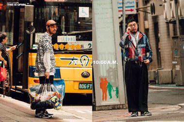 台北買取店OPMM自行製作拍攝的穿搭Lookbook,順勢展示買取店Staff的工作流程。  圖/OPMM提供