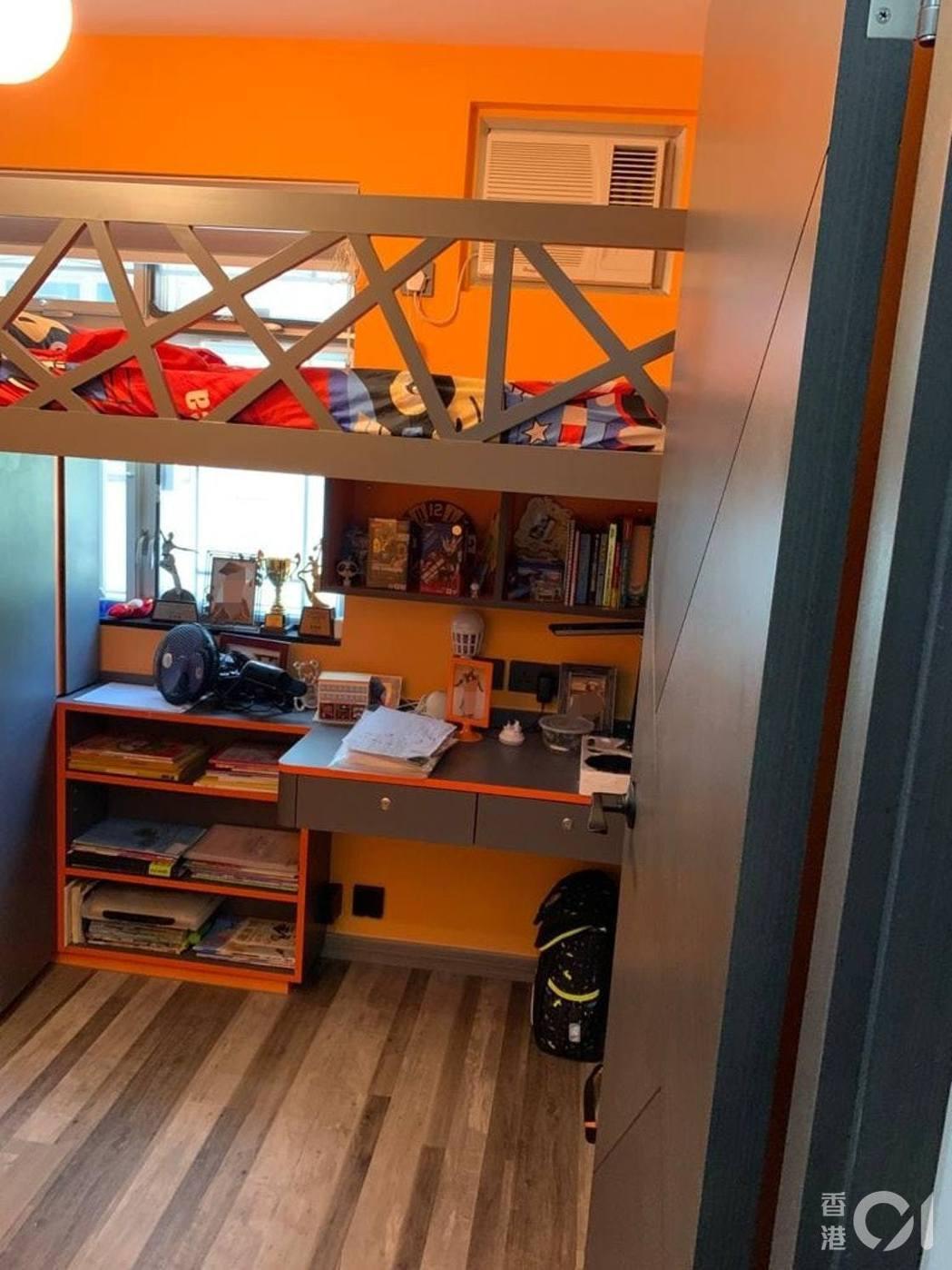 受訪者子女的房間顏色是搭配風水色,兒子房間顏色選大地色。圖/受訪者提供