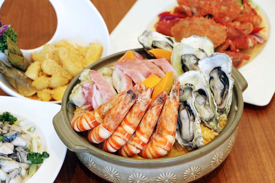 聚味軒-澎湖明蝦海鮮粥。 業者/提供。