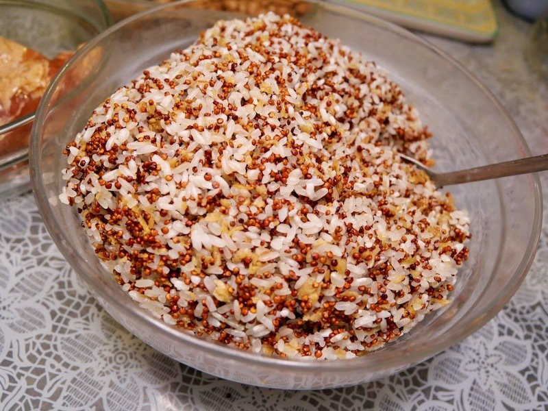 加了藜麥的拌米