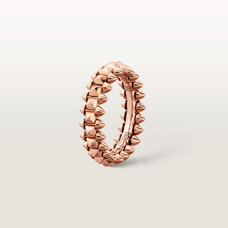 Clash de Cartier玫瑰K金戒指小型款,65,500元。圖/卡地亞提...