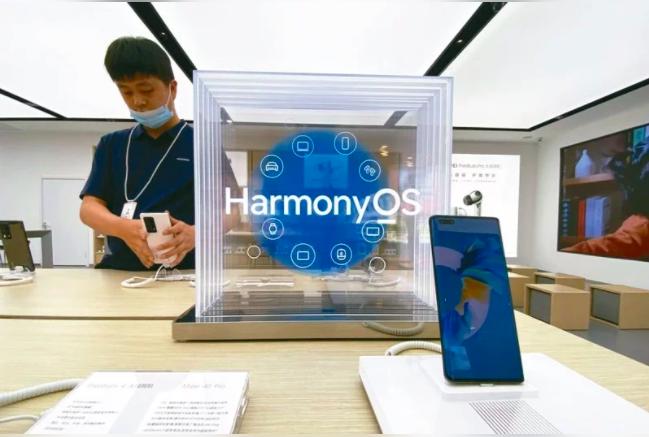 華為發布HarmonyOS 2系統以來,一周內升級用戶已經突破1,000萬。照片...