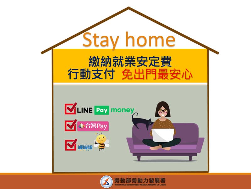針對雇主聘僱外國人應繳納的就業安定費,勞動部已開放「台灣Pay」、「嗶嗶繳」及「Line Pay Money」行動支付繳費管道。圖/勞動部提供