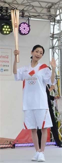 壇蜜擔任東京奧運聖火傳遞員。圖/摘自推特
