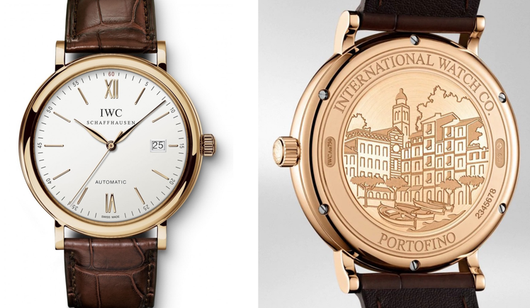 「金小胖」金正恩手上的IWC Portofino自動腕表,以玫瑰金表殼搭配手工的...