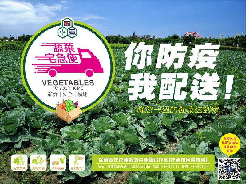 花蓮蔬菜運銷合作社推出安全蔬菜箱,相當搶手,一周銷量超過700箱。記者王燕華/翻攝