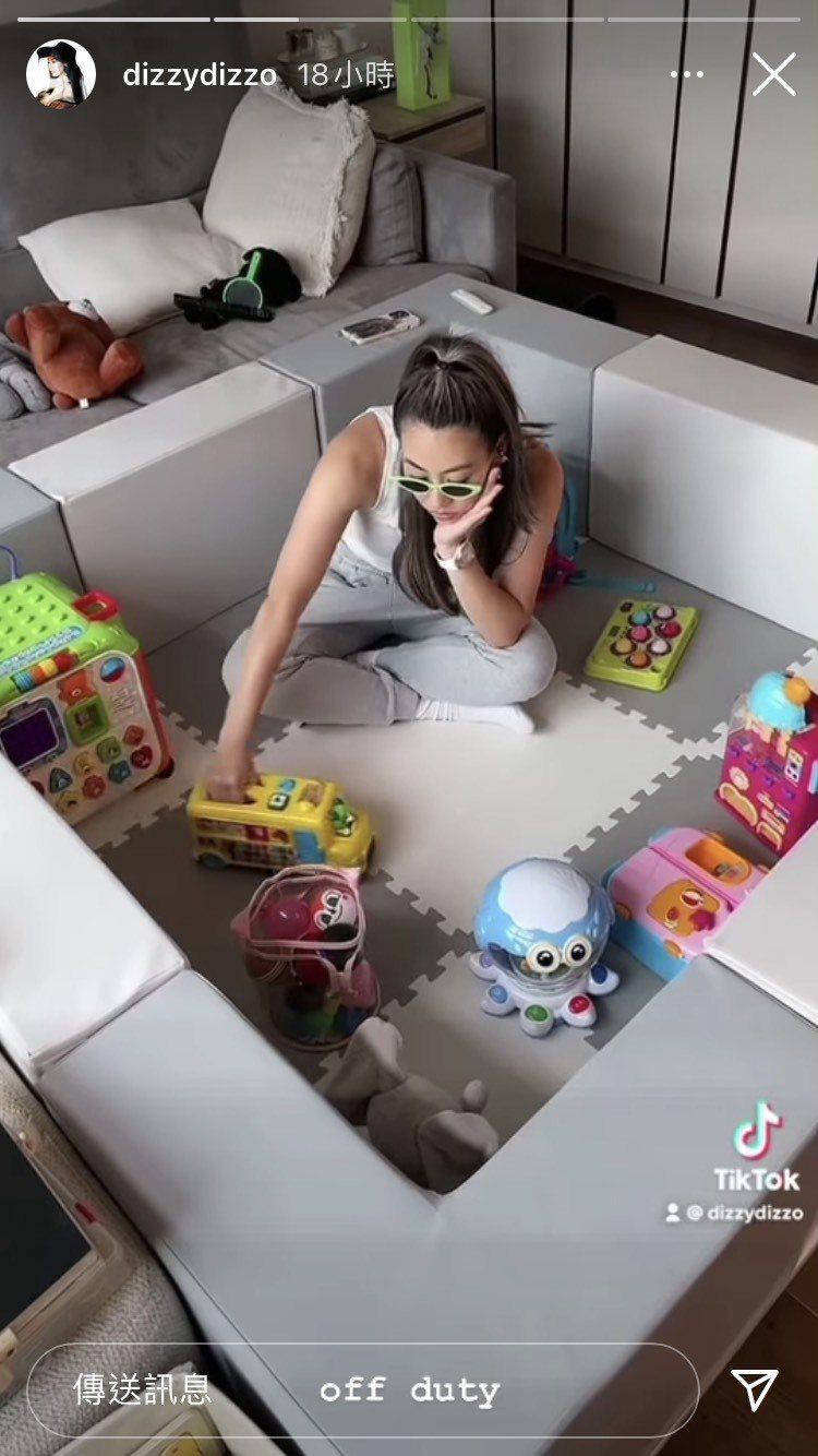 蔡詩芸在IG限動配戴HUBLOT Big Bang系列One Click腕表。圖...