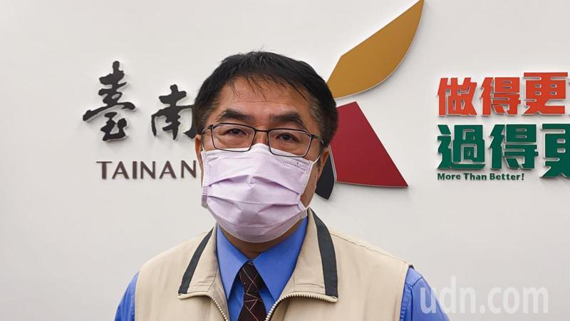 台南市長黃偉哲認為,目前疫情仍嚴峻,不敢過分樂觀。記者鄭維真/攝影