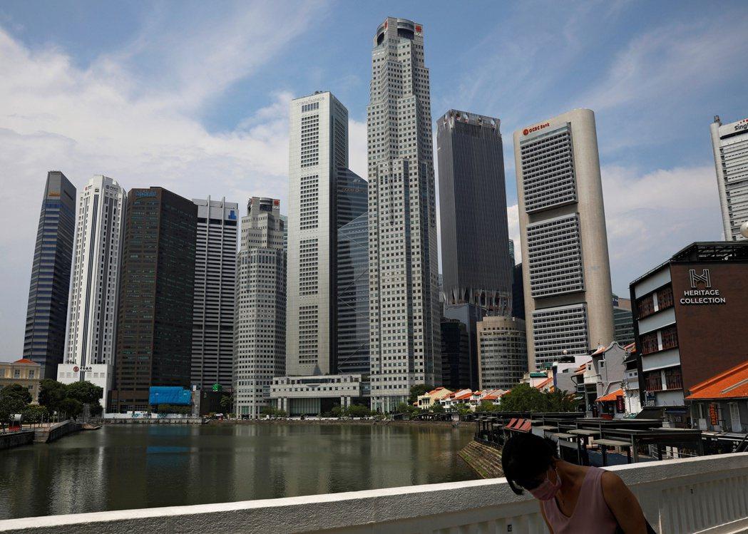新加坡的天際線。路透
