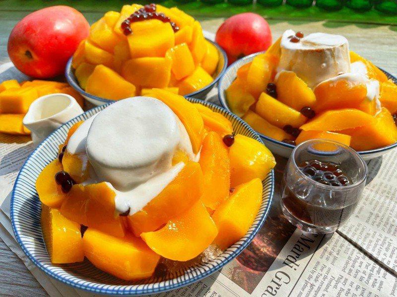 芒果奶蓋布丁冰。圖/南泉冰菓室 提供