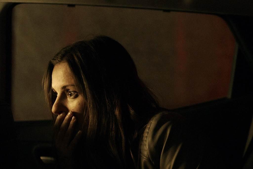 電影「陰森」女主角喬丹海耶斯表示搭車時,懷疑過司機是不是變態殺人狂。圖/采昌提供