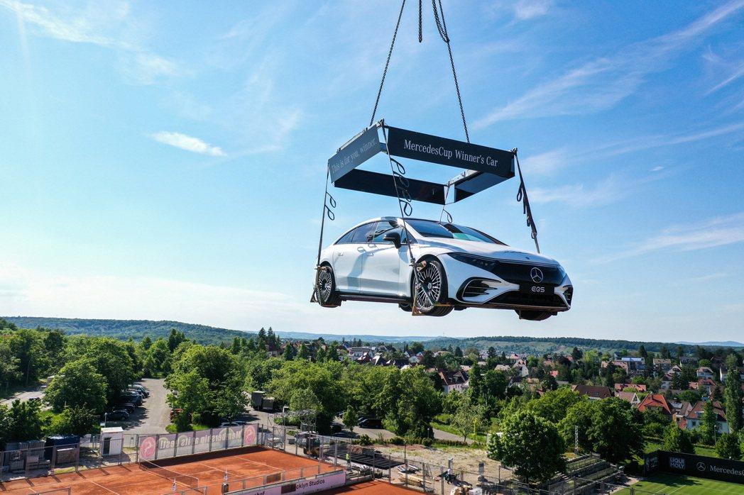 2021斯圖加特公開賽冠軍得主將可獲得一輛全新賓士純電房車EQS。 摘自Merc...