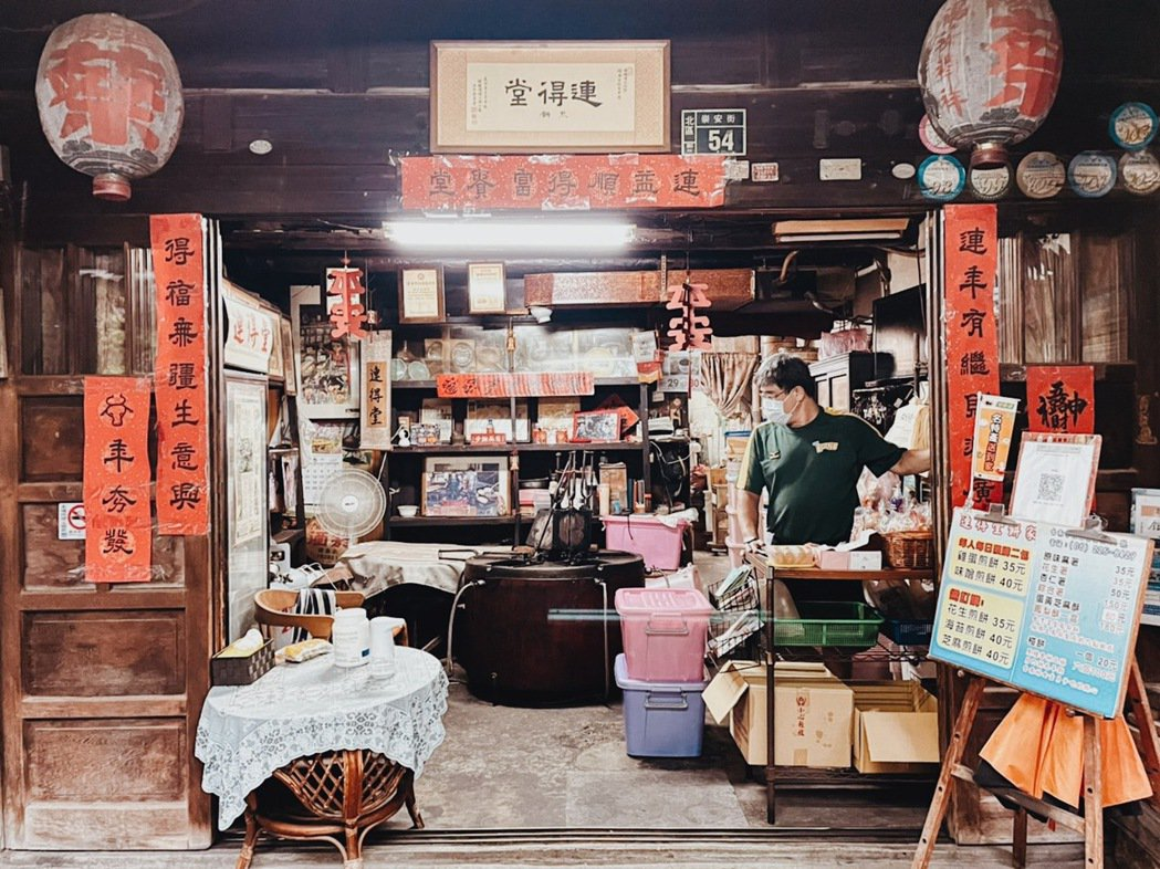 煎餅老鋪「連得堂煎餅」堅持每日手工製作。 圖/謝宅提供