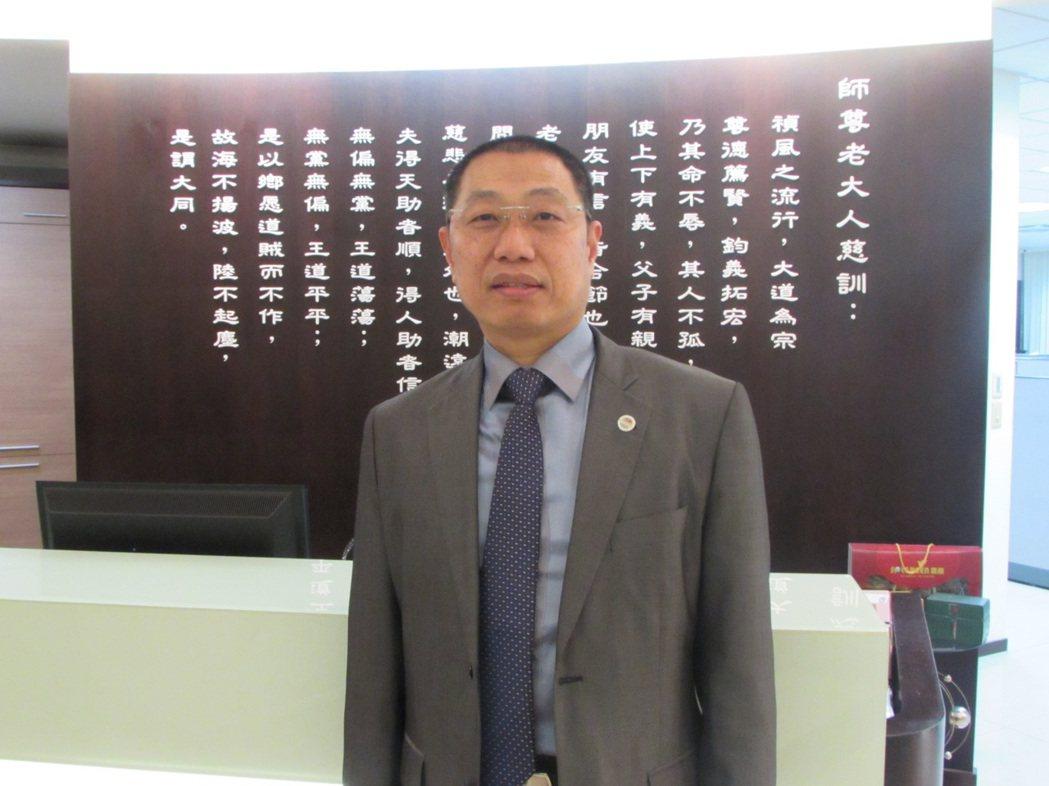 系統公會理事長蔡宗融。 翁永全/攝影
