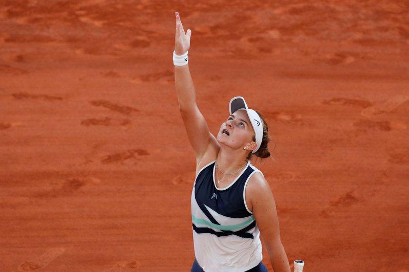 世界排名第33的捷克女將卡雷茨科娃生涯首次打進大滿貫決賽。 路透社