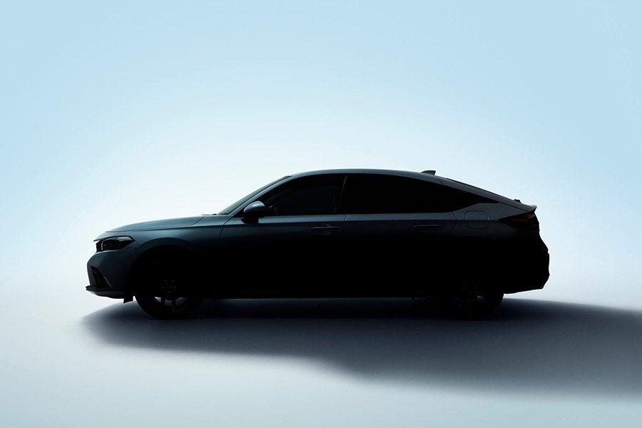 全新Honda Civic Hatchback剪影。 Honda提供