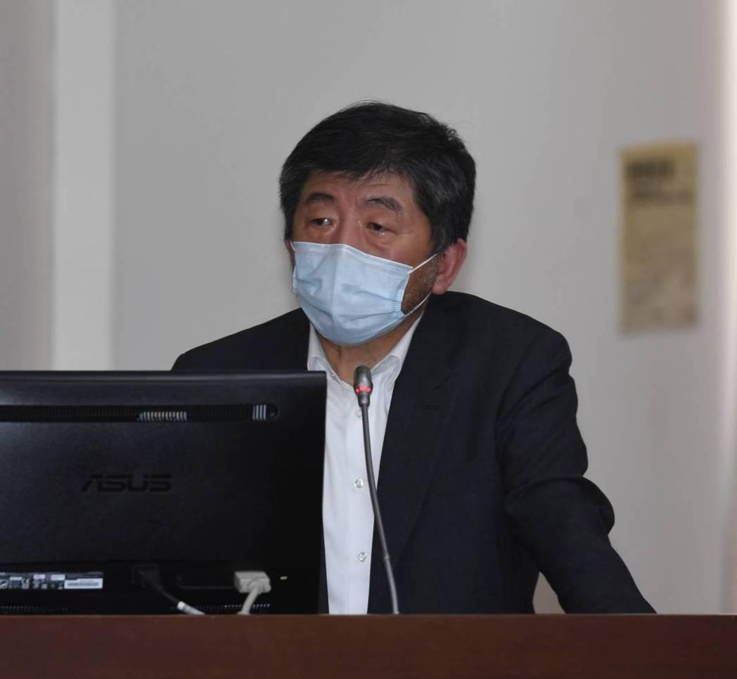 衛福部長陳時中今在立院答詢。圖/立法院提供