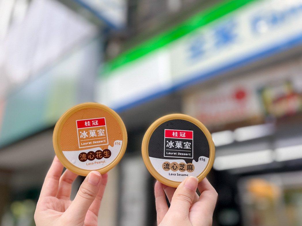 「桂冠冰菓室」系列冰品推出「桂冠流心花生冰淇淋」、「桂冠流心芝麻冰淇淋」,神還原...