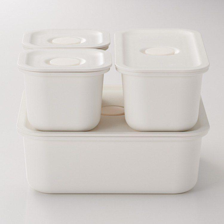 MUJI無印良品聚丙烯密閉式便當盒系列/120-190元。圖/MUJI無印良品提...