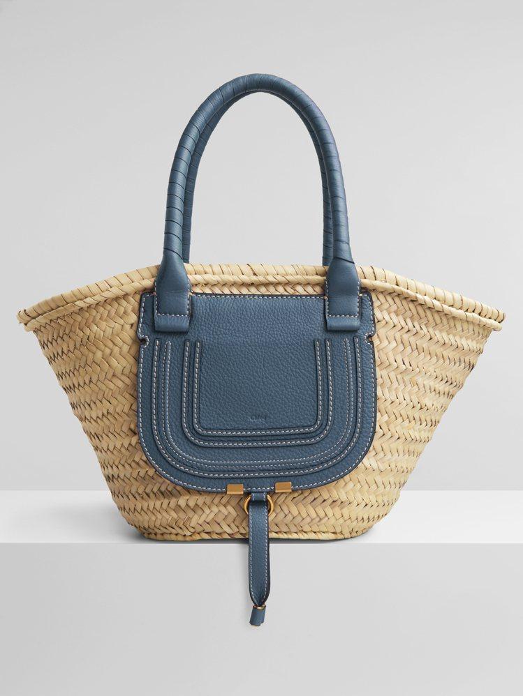 Chloé Marcie幻影藍編織包,23,700元。圖/Chloé提供