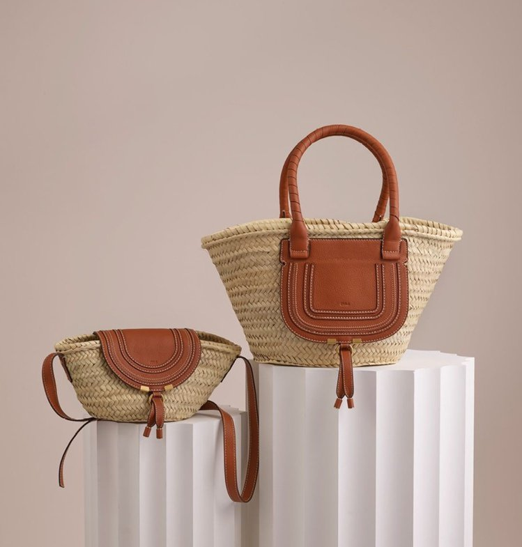 (左起)Chloé Marcie側背編織包18,500元、Chloé Marci...