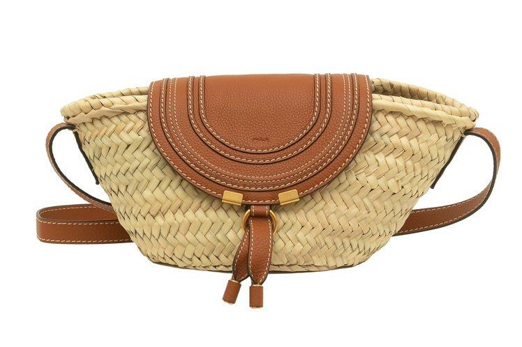 Chloé Marcie Basket側背編織包,18,500元。圖/Chloé...