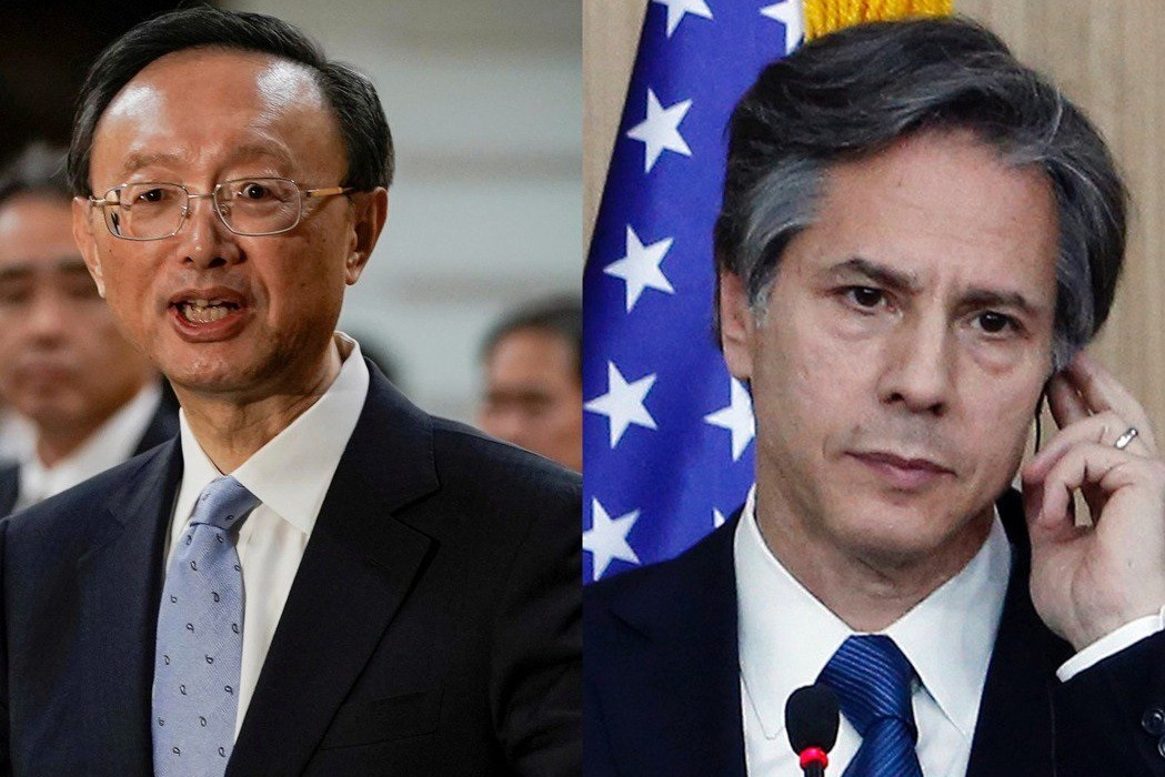 布林肯與楊潔篪通話 籲北京停止對台施壓