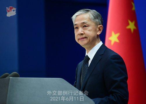 大陸外交部發言人汪文斌表示,台灣要加入CPTPP,必須在一中原則下進行。(取自大...