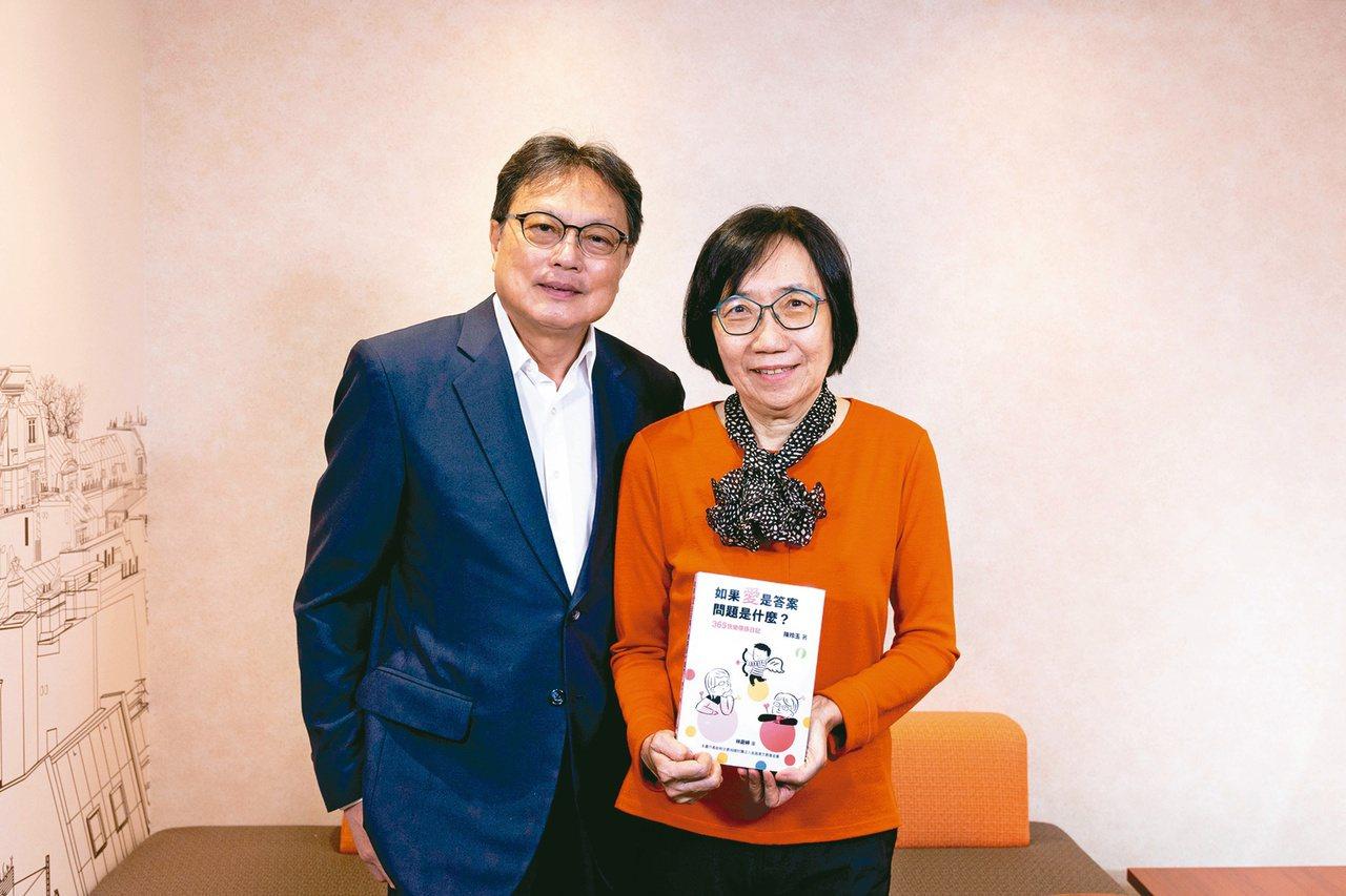 陳玲玉(右)與洪三雄大學時代就認識,是爭取言論自由的「學運夫妻檔」。圖/格林文化...