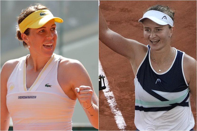 法網女單冠軍賽將在今天登場,由生涯皆不曾闖進過大滿貫決賽的俄羅斯帕莉歐申可娃(左)出戰捷克卡雷茨科娃(右),儘管被認為是近年來星度最低的對決。 路透、美聯社
