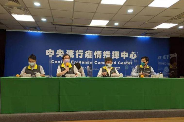 中央流行疫情指揮中心下午2時舉行記者會。記者謝承恩/攝影
