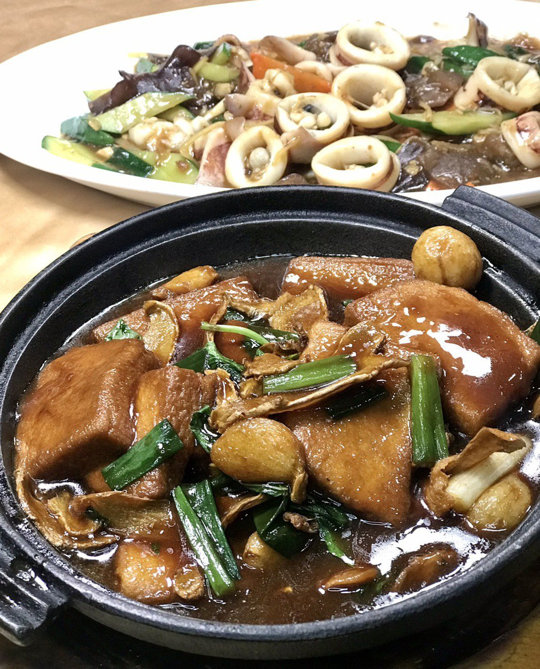 大祥海鮮餐廳將整桌的大菜打六折,推出外帶餐。記者趙容萱/翻攝