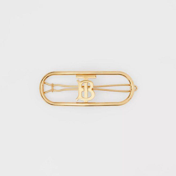 BURBERRY鍍金專屬標識髮夾,11,800元。圖/BURBERRY提供