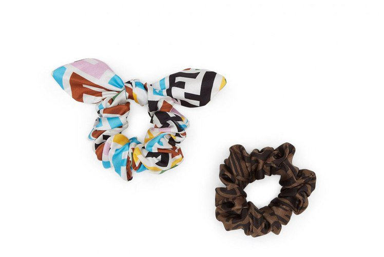 FENDI Vertigo聯名系列髮圈組,8,200元。圖/FENDI提供