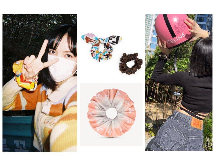 BLACKPINK Lisa以愛馬仕或Lisa的彈性髮帶套在手腕上,既實用也是裝...