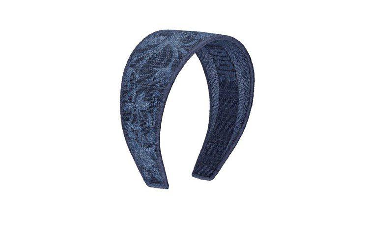 Dior Flowers藍色圖騰棉質髮箍,25,500元。圖/DIOR提供