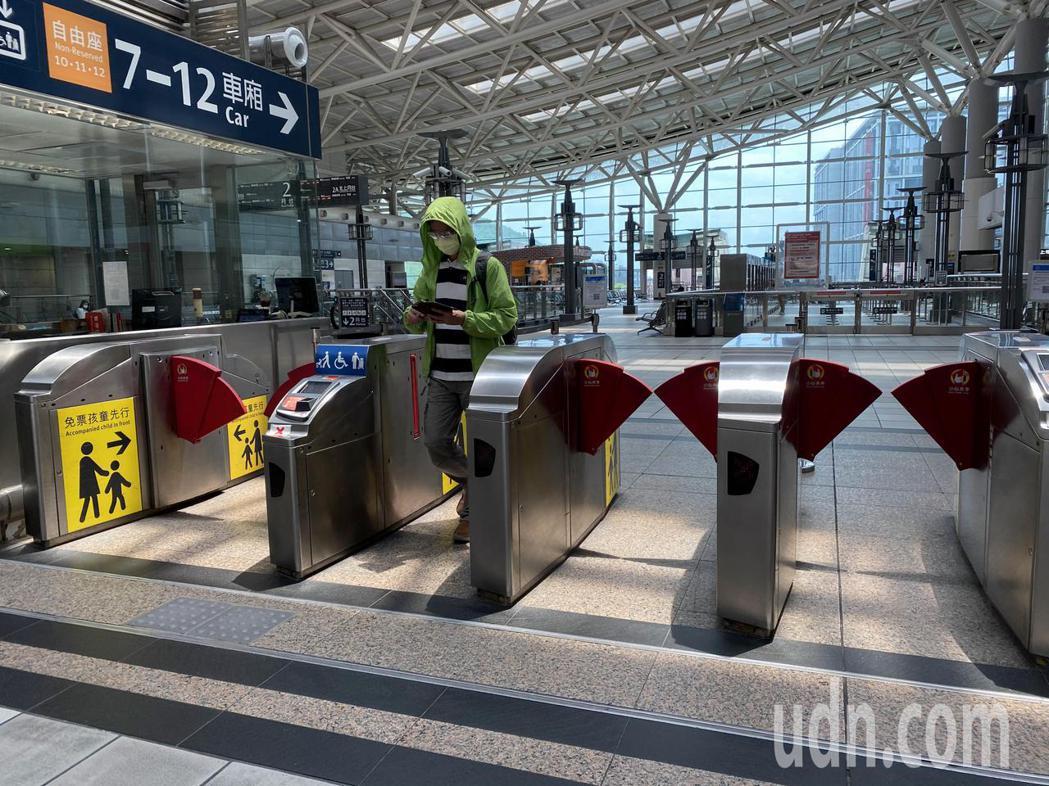 端午連假首日,高鐵左營站相當冷清。記者陳弘逸/攝影