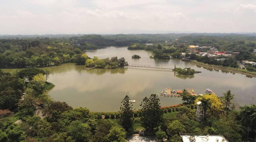 虎頭埤風景區水域。圖/警方提供