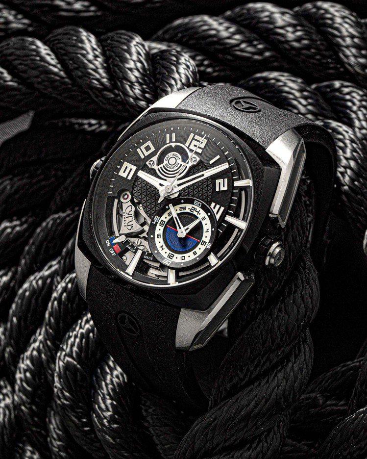 Klepcys Alarm響鬧腕表具有24小時制的打簧式鬧鐘功能,訂價約143萬...