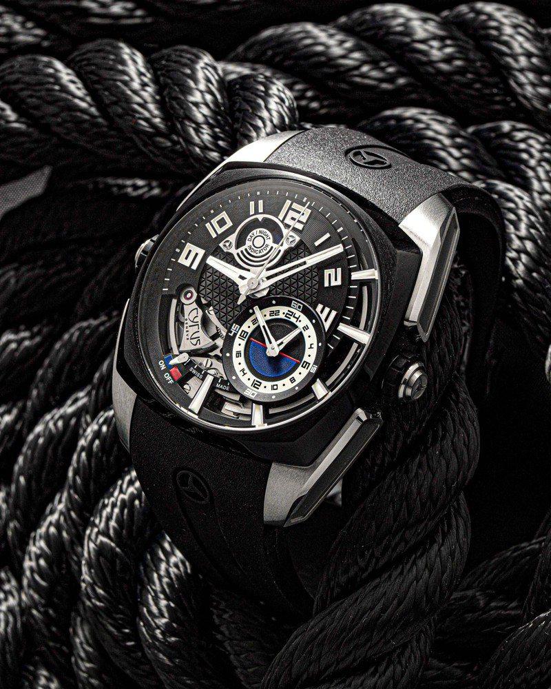 Klepcys Alarm響鬧腕表具有24小時制的打簧式鬧鐘功能,訂價約143萬5,000元。圖 / CYRUS提供。