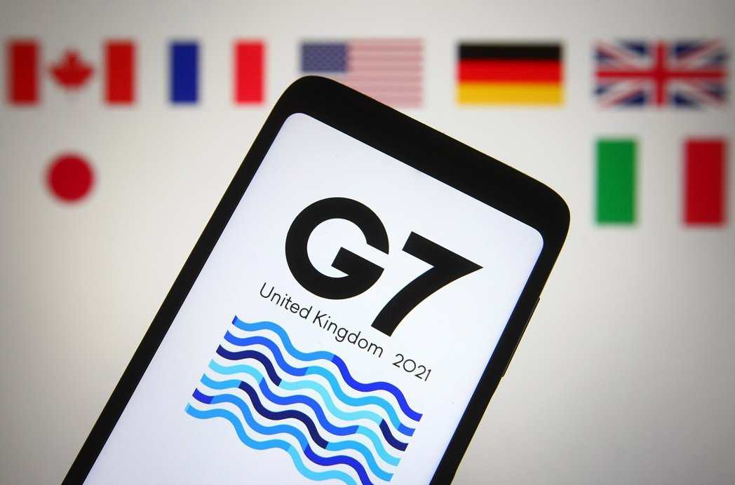 第47屆七大工業國(G7)高峰會標誌。一位美方資深官員的說法指出,G7將宣布一個...