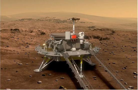 大陸國家航天局新聞發言人許洪亮12日表示,天問一號火星探測任務實現了6個首次。圖/取自新浪網