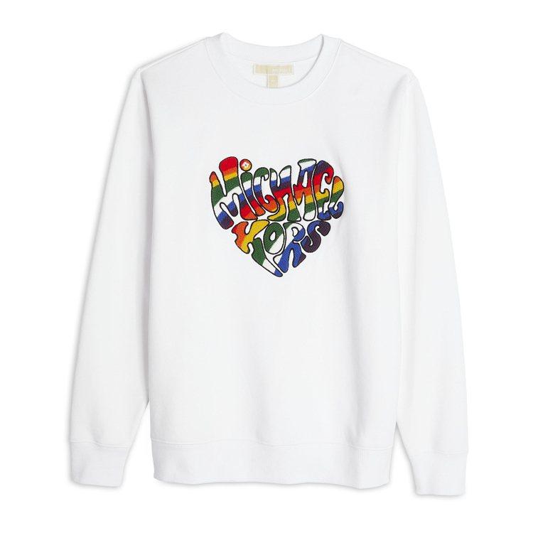 MICHAEL KORS白色長袖上衣,7,600元。圖/MICHAEL KORS...