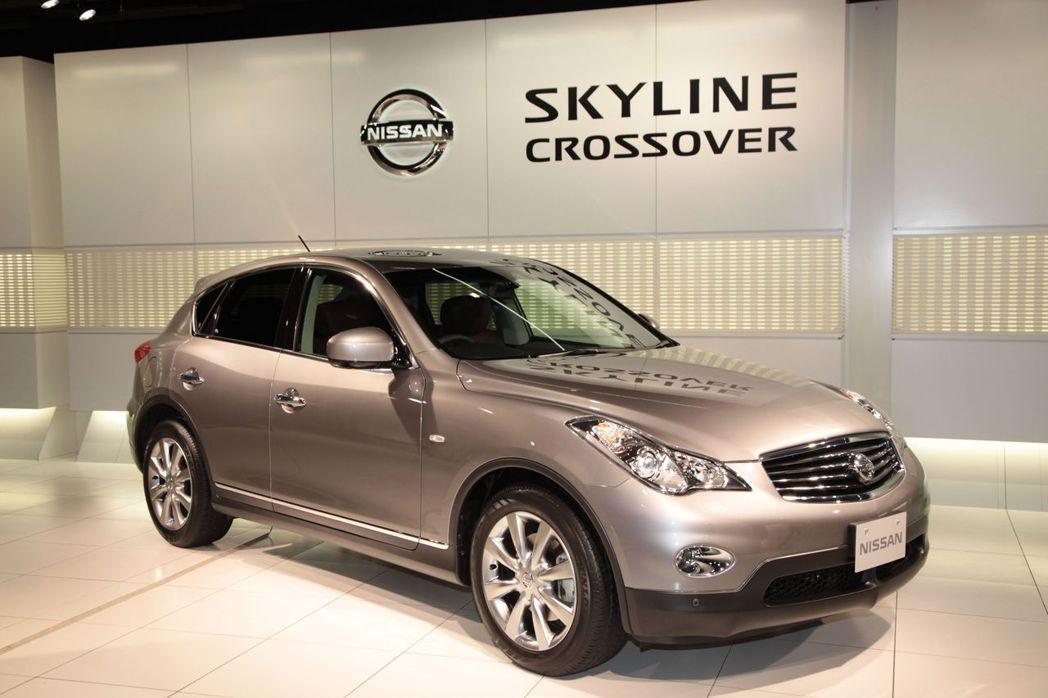 2009 Skyline Crossover。 摘自Nissan