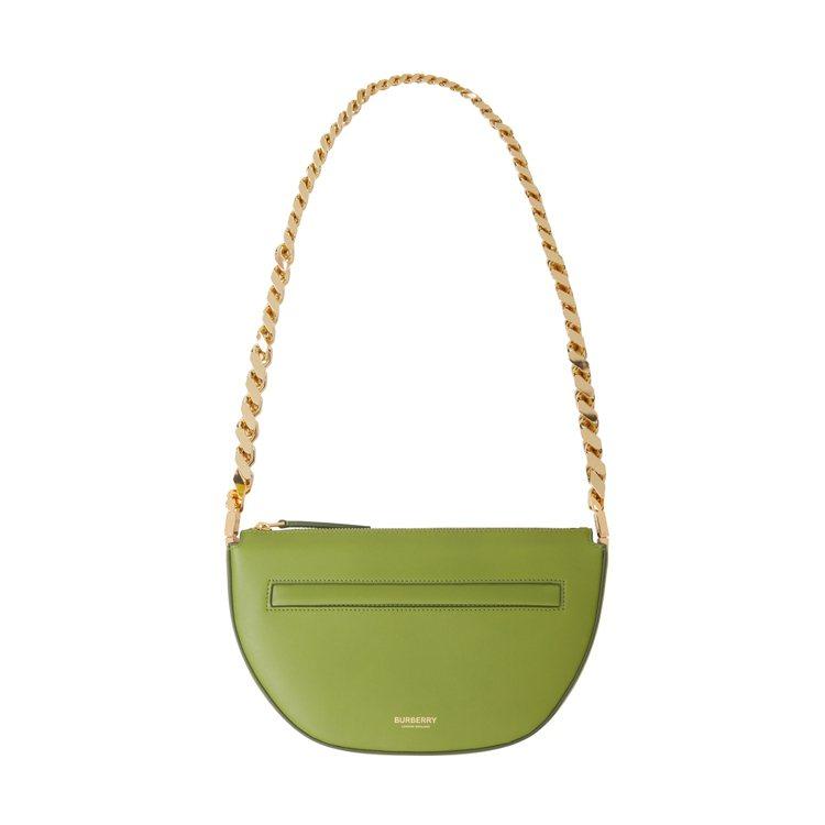 迷你金鍊沼澤綠色Olympia包款,55,000元。圖/BURBERRY提供