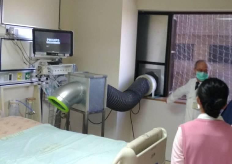 台大醫院院長吳明賢指出,昨天誤傳權貴人士到台大打疫苗,真相其實是善心人士來看捐贈...