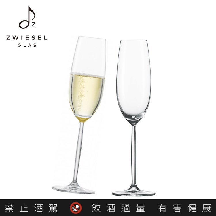 Diva天后系列香檳杯219毫升,2200元(2入)。圖/德國蔡司提供。提醒您:...