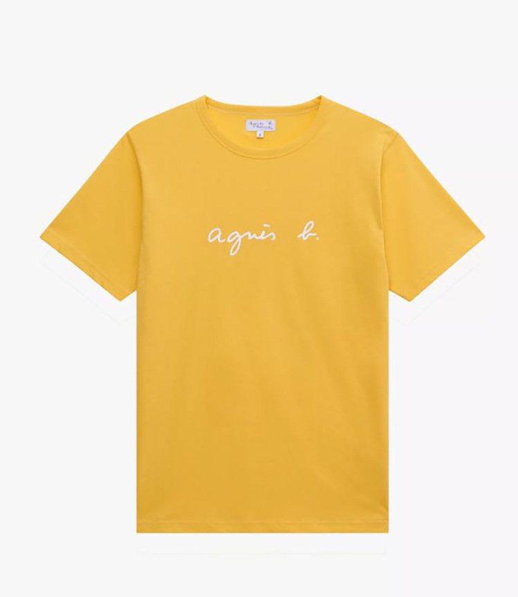 經典手寫Logo T恤,3,280元。圖/agnès b.提供
