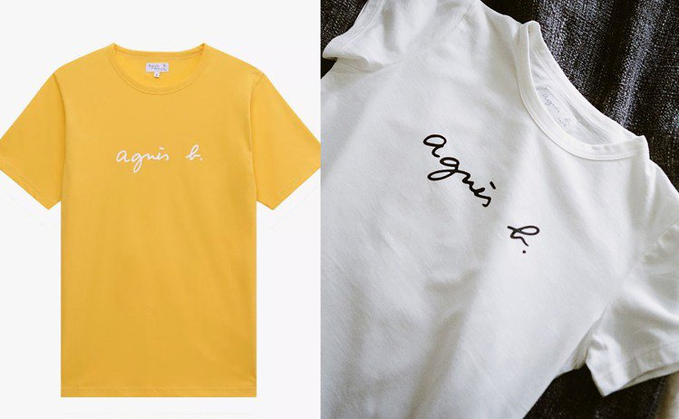 經典手寫Logo T恤。圖/agnès b.提供