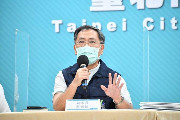 台北市副市長蔡炳坤表示,明天下午前疫苗施打相關作業都會完成。圖/北市府提供